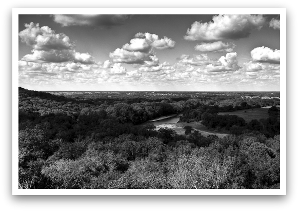 Texas Hill Country Grayscale