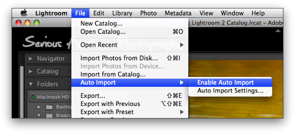 Lightroom's Auto Import