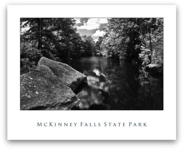 McKinney Falls (Black & White)