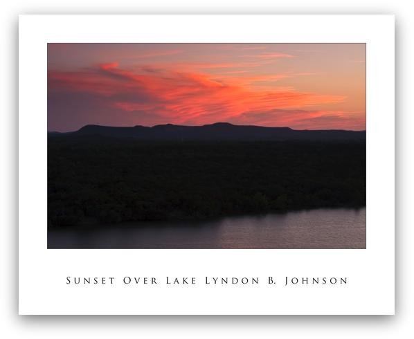 Sunset Over Lake LBJ