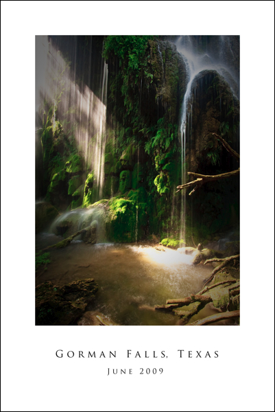 Gorman Falls 16 x 24 Poster