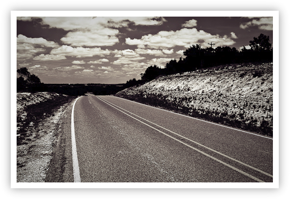 The Road is Long (Duotone)