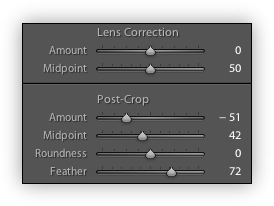 Post Crop Settings