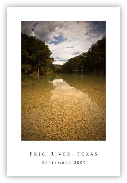 Frio River in Concan, Texas