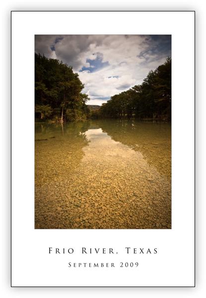 Frio River in Concan, Texas