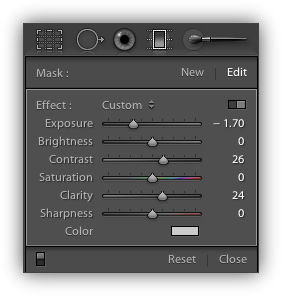 Using Lightroom's Gradient Tool