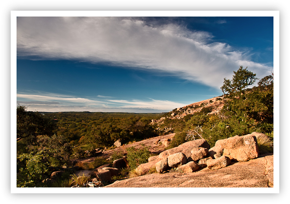 Jet Stream Enchanted Rock Texas.