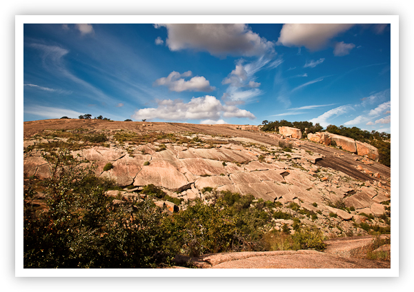Looking Up at Enchanted Rock
