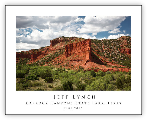 Caprock Canyons 20x16 Poster