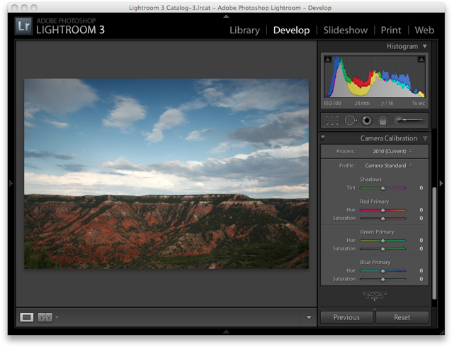 Lightroom 3 Raw Workflow - Camera Calibration