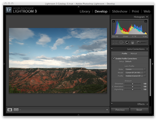 Lightroom 3 Raw Workflow - Lens Corrections