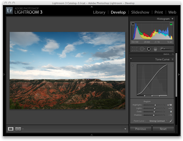 Lightroom 3 Raw Workflow - Tone Curve