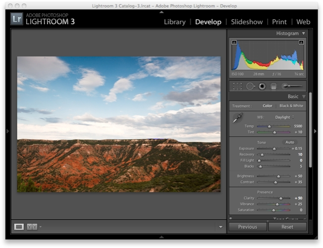 Lightroom 3 Raw Workflow - Basic Settings