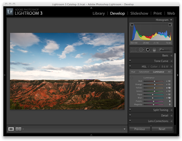 Lightroom 3 Raw Workflow - Luminance