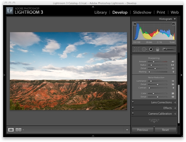 Lightroom 3 Raw Workflow - Sharpening & Noise Reduction