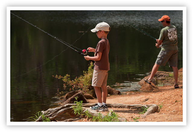 Fishing at Bastrop State Park