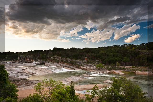 Pedernales Falls at Sunset
