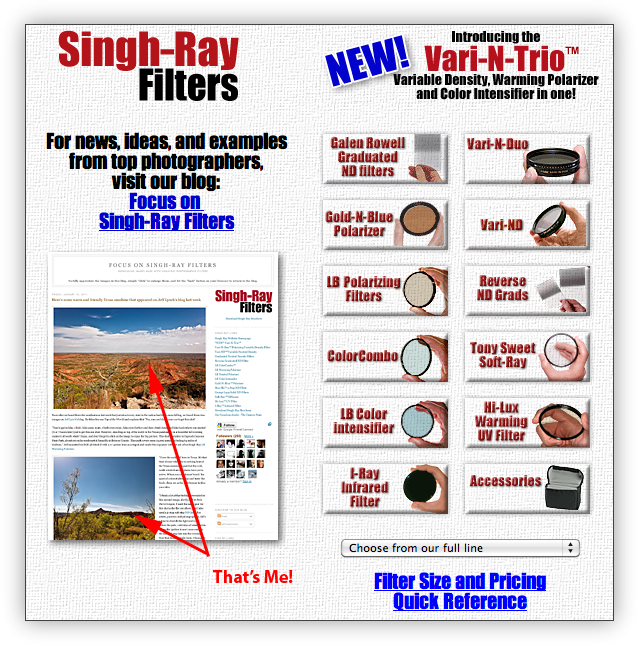 Singh-Ray Web Site