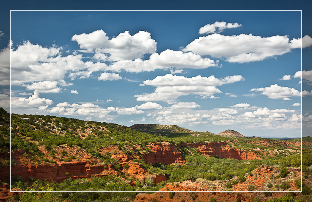 Caprock Canyon in Summer