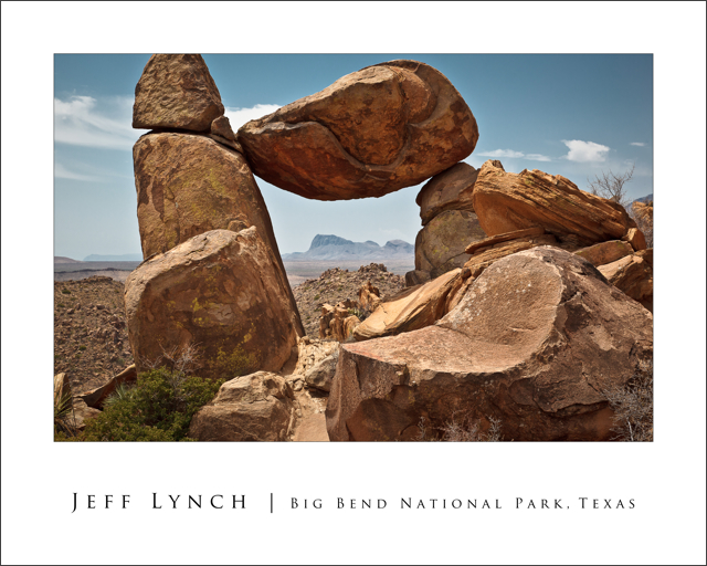 Balanced Rock - Big Bend National Park Poster