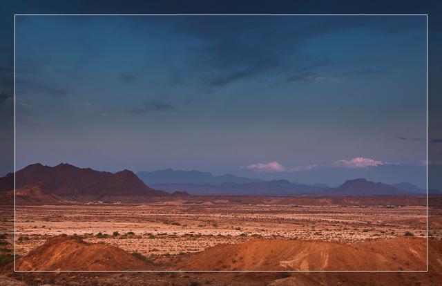 Deep Purple Desert Sunset