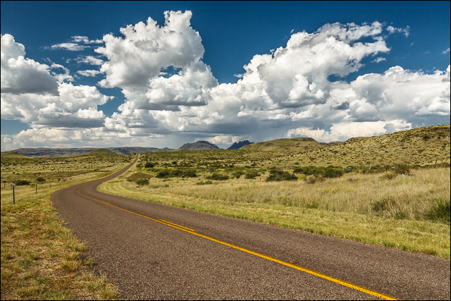 Gentle Curve - Davis Mountains, Texas